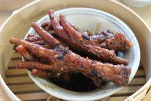 Steamed Chicken Feet with Black Bean Sauce (Fung Jao)