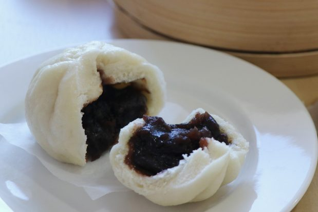 Steamed Red Bean Buns (Dao Sha Bao)