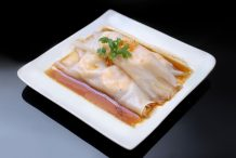 Hong Kong Steamed Rice Rolls with Prawns (Har Cheung Fun)