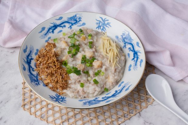 Dried Scallops and Minced Pork Congee