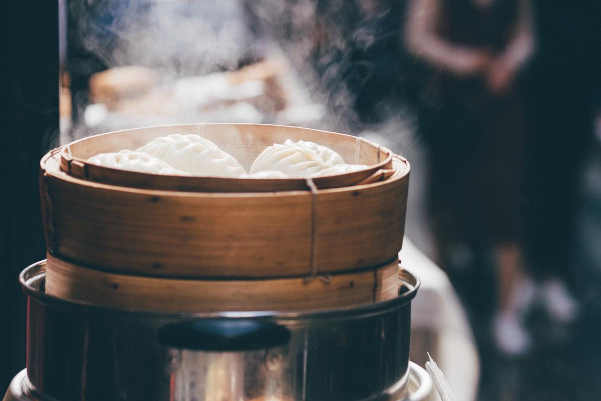 Vegetables Chicken Bamboo Steamer For Dumplings Fish Steam Basket Natural