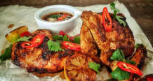 Thai BBQ Chicken With Spicy Dipping Sauce