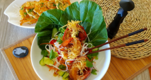 Lobster Tails with Ginger Sauce & Vietnamese Noodle Salad