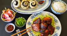 Hoisin Chicken with Chinese Pickles & Sesame Mantou