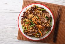 Wheat Noodles with Beef and Vegetables