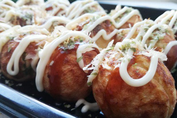 Grilled Octopus Balls (Takoyaki)