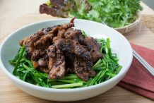 Doenjang Marinated Pork with Chives (Dwaejigogi Doenjang Gui)