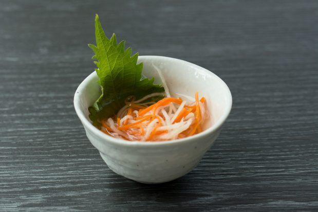 Daikon and Carrot Salad (Kohaku Namasu)
