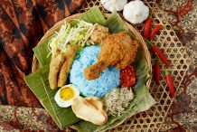 Blue Butterfly Pea Rice Salad (Nasi Kerabu)