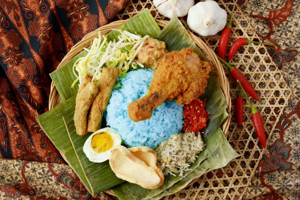Blue Butterfly Pea Rice Salad (Nasi Kerabu)
