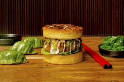 Okonomiyaki Tofu Burger Set