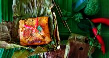 Grilled Barramundi Curry In Banana Leaf