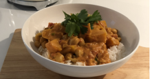 Pumpkin and Chickpea Curry