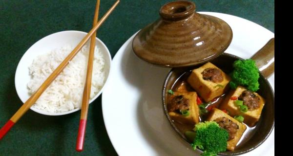 Mini Cantonese Stuffed Tofu Tagine