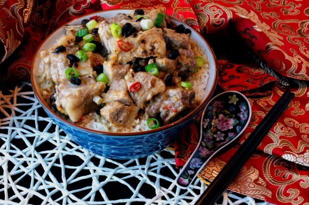 Steamed Pork Spareribs Rice with Black Bean Sauce