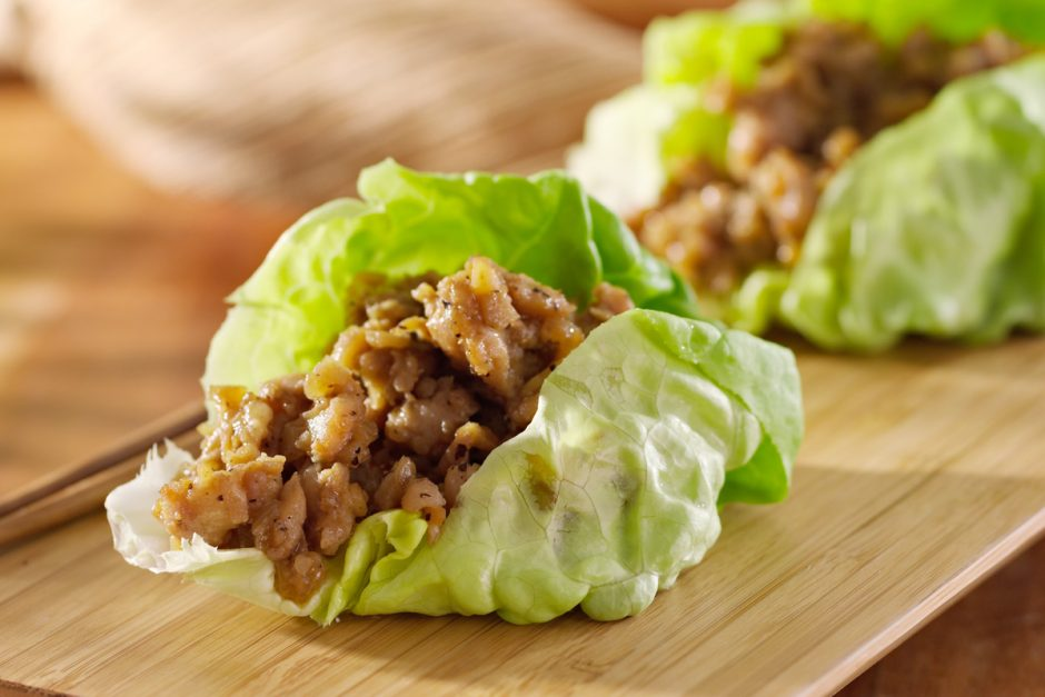 modern chinese recipe - lettuce cups