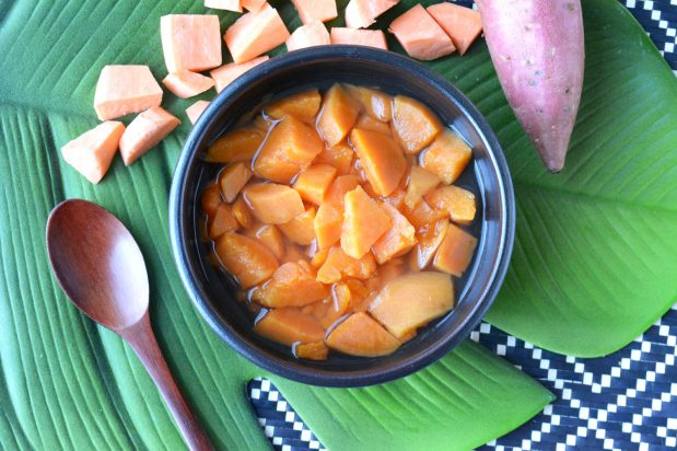 Sweet Potatoes in Ginger Syrup