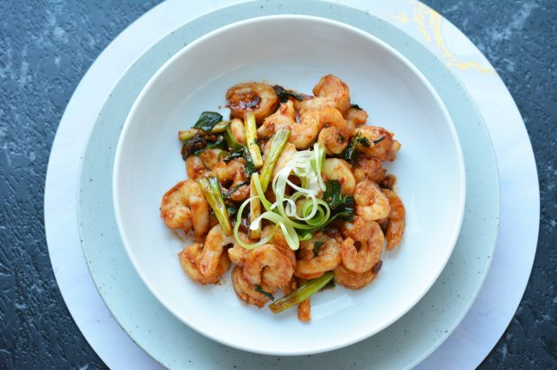 Prawns with Sichuan Hot and Spicy Sauce