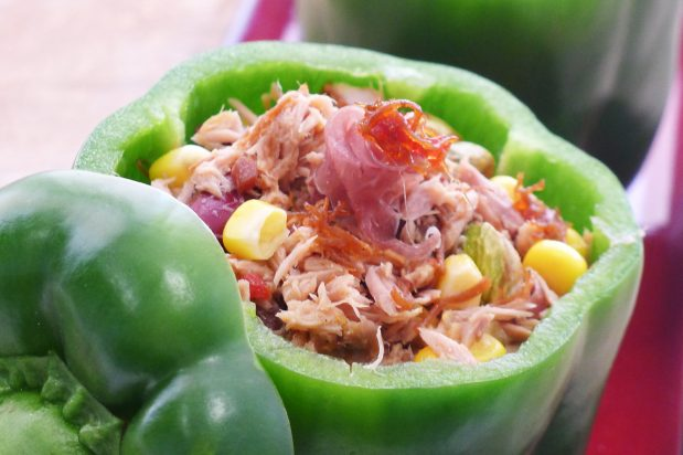Stuffed Bell Peppers with XO Sauce and Tuna