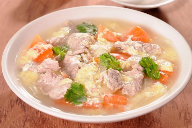 Pork and Egg Flower Soup