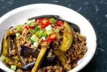 Shortcut Spicy Garlic Eggplant