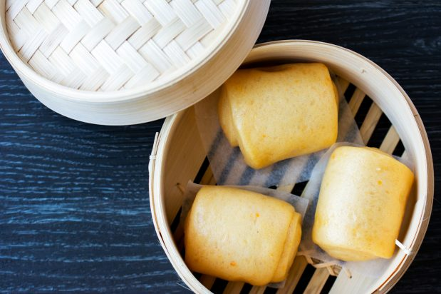 Sweet Potato Steam Buns (Mantou)