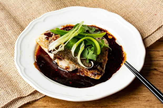 Pan Fried Barramundi with Oyster and Soy Sauce