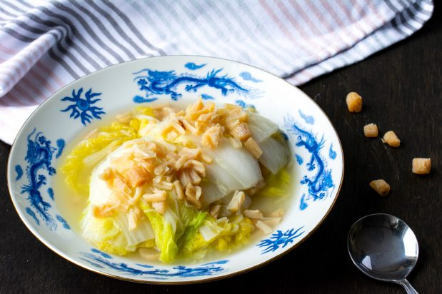 Steamed Wombok with Dried Scallops