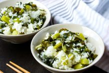 Rice with Chinese Broccolli
