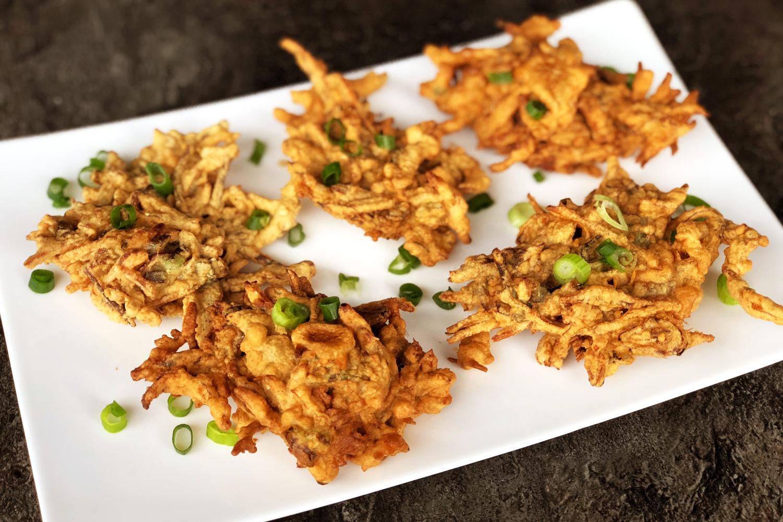Filipino Anchovies Fritters Ukoy Na Dilis Asian Inspirations