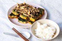 Homemade Fried Spinach Tofu