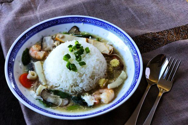 Rice with Silky Savoury Gravy (Mui Fan)