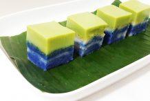 Malaysian Glutinous Rice with Pandan Custard (Kuih Seri Muka)