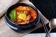Kimchi Meatball Stew
