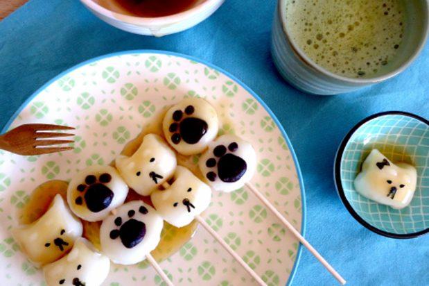 Year of the Dog Mitarashi Dango with Sweet Soy Sauce