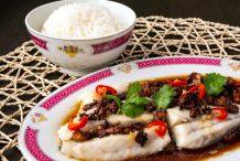 Steamed Barramundi Fish with Preserved Radish