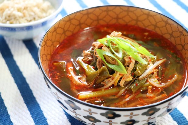 Korean Spicy Beef Soup (Yukgaejang)