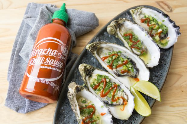 Spicy Sriracha Oysters
