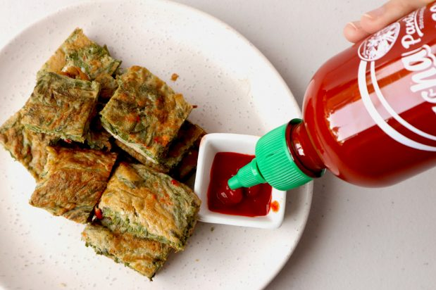 Omelette with Acacia Leaves (Kai-Jiao Cha-Om)