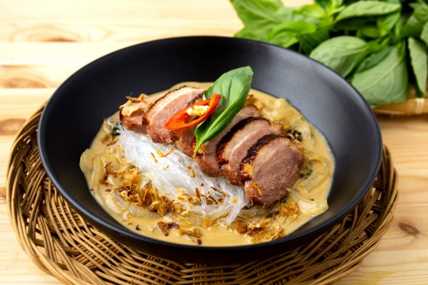 Pan-fried Duck Breast with Thai-style Noodles