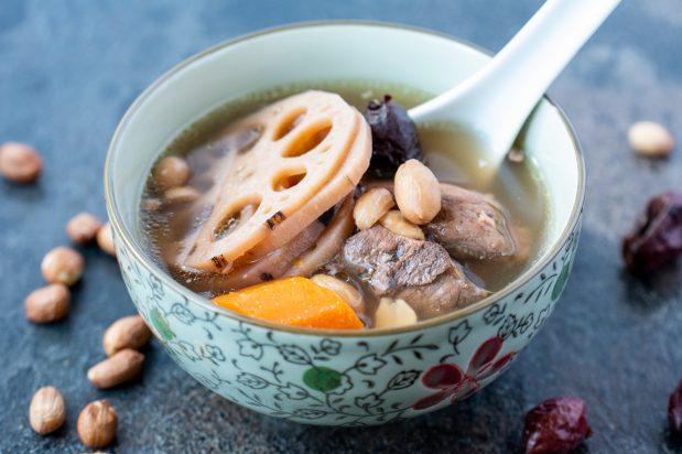 Pork Ribs Lotus Root and Peanut Soup