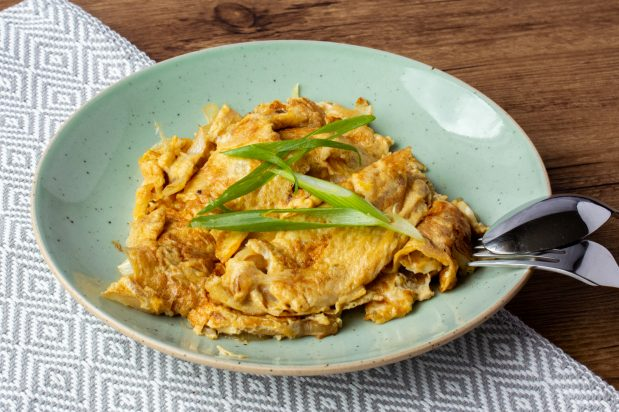 Pan Fried Omelette with Onion