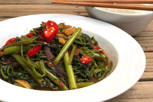 Sambal Water Spinach (Sambal Kangkung)