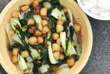 Chinese Stir-Fried Scallops with Baby Bok Choy