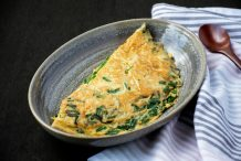 Pan Fried Omelette with Chives