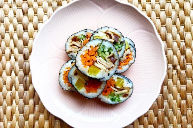 Korean Vegetarian Kimbap