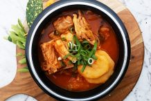 Korean Spicy Pork Backbone Hotpot with Potatoes (Gamjatang)