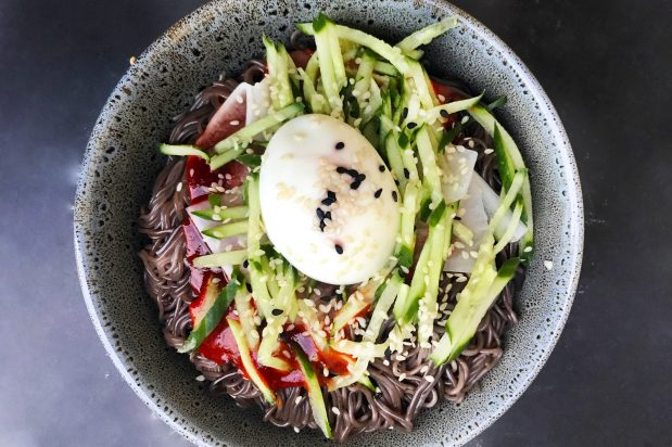 Korean Spicy Cold Noodle (Bibim Naengmyeon)