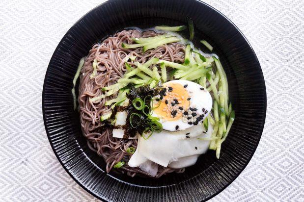 Korean Cold Noodle Soup (Mul Naengmyeon)
