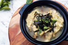 Korean Dumpling Mandu Soup